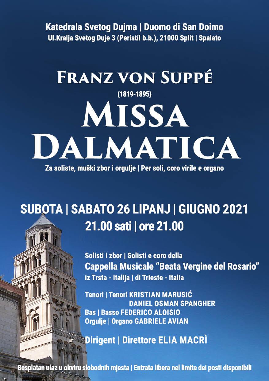 Locandina concerto Spalato 2021