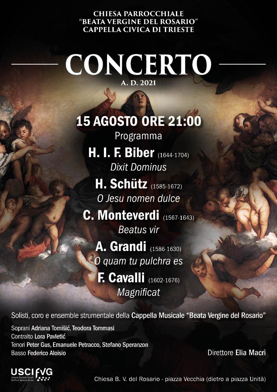 Locandina Concerto Assunzione BV Maria 2021