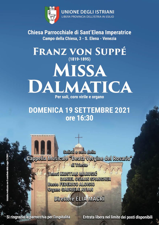 Locandina del concerto Missa Dalmatica, Venezia_2021