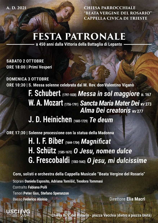 Locandina Santo patrono ottobre 2021